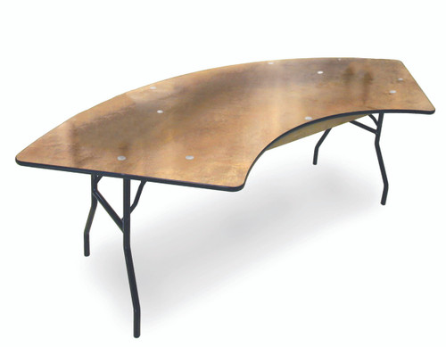 ProRent Plywood Serpentine Folding Table-USA Made (MC-PR-SERPENTINE) - USA