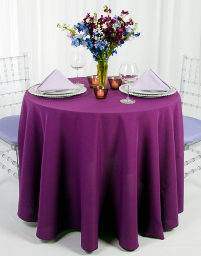 Solid Polyester Tablecloth Linen - 10+Sizes-10+Colors-20+Free Ship