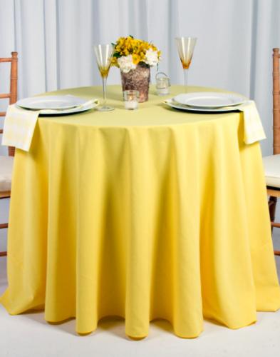 Spun Polyester Tablecloth Linen - 10+Sizes-10+Colors-20+Free Ship