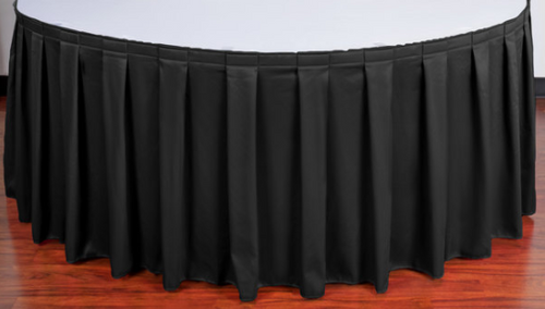 "30""H Spun Polyester Box Pleat Table Skirting (By the Foot) Includes Velcro Clips - 10+Colors-20+Free Ship"