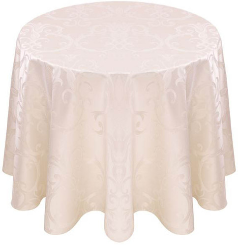 Chopin Damask Tablecloth Linen-Antique White
