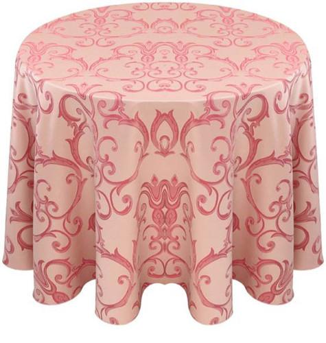 Chopin Damask Tablecloth Linen-Blush
