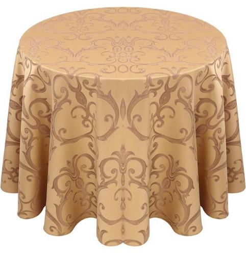 Chopin Damask Tablecloth Linen-Camel