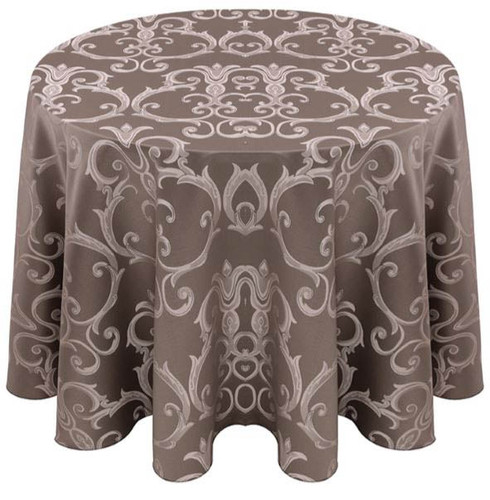 Chopin Damask Tablecloth Linen-Silver