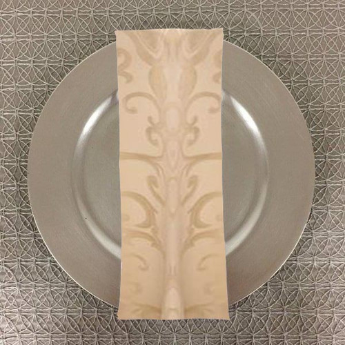 Dozen (12-pack) Chopin Damask Table Napkins-Ivory