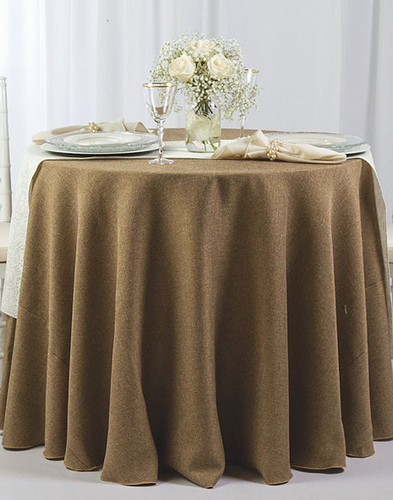 Faux Burlap Rustic Poly Textured Tablecloth Linen - 10+Sizes-20+Free Ship