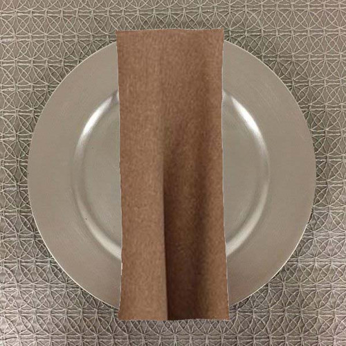 Dozen (12-pack) Faux Burlap Rustic Poly Textured Table Napkins - 20+Free Ship