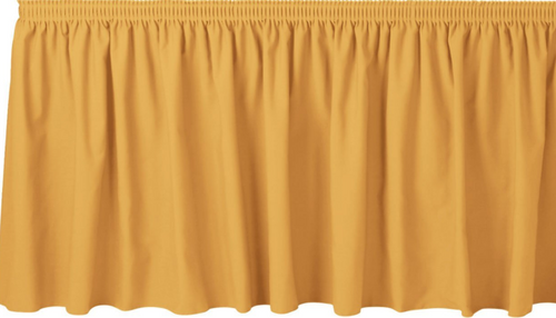 "30""H Solid Polyester Shirred Table Skirting (By the Foot) Includes Velcro Clips - 10+Colors-20+Free Ship"