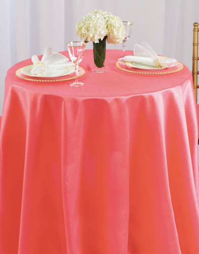 Faux Dupioni Polyester Based Tablecloth Linen - 10+Sizes-30+Colors-20+Free Ship