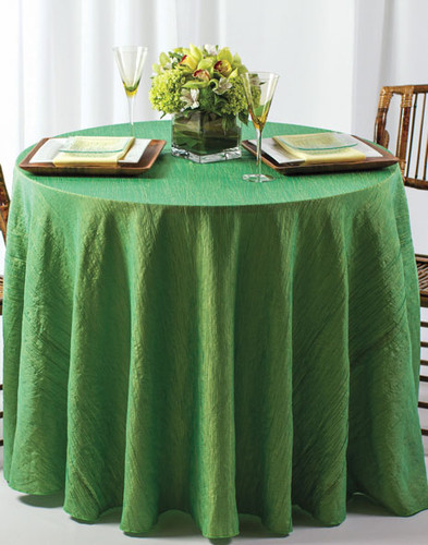 Krinkle Crush Fabric Tablecloth Linen - 10+Sizes-10+Colors-20+Free Ship