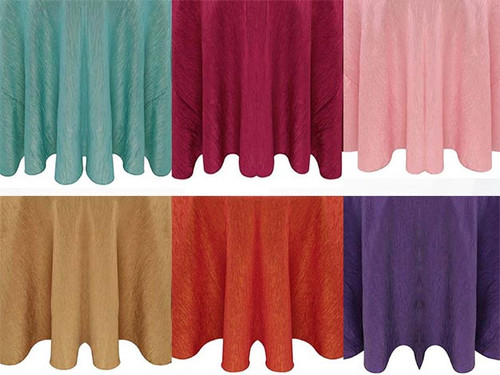 5 ft Wide Krinkle Crush Fabric Drapes - 3 Sizes-10+Colors-20+Free Ship