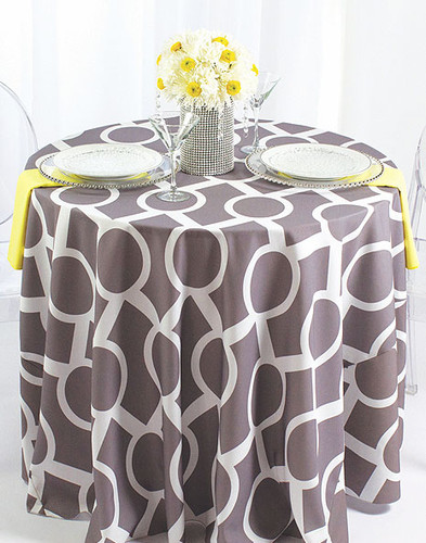Liberty Key Geometric Print Polyester Tablecloth Linen - 10+Sizes-20+Free Ship