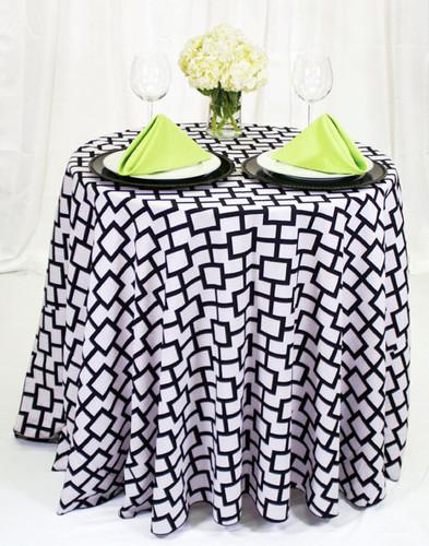 Liberty Square Geometric Print Polyester Tablecloth Linen - 10+Sizes-20+Free Ship