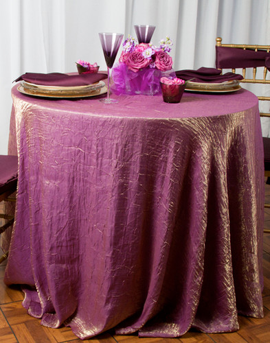 Shimmer Crush Polyester Fabric Tablecloth Linen - 10+Sizes-20+Colors-20+Free Ship