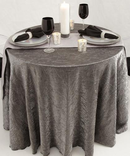 Shimmer Crush Fabric Tablecloth Linen