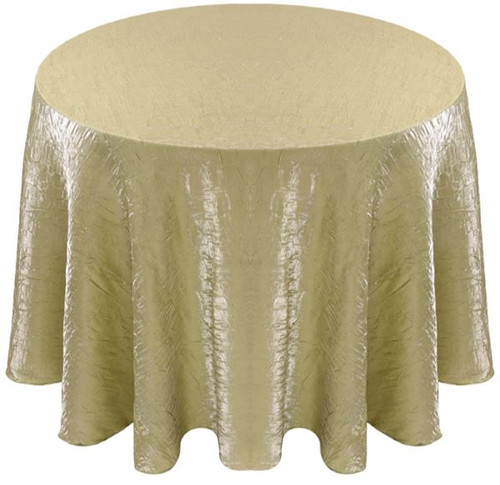 Shimmer Crush Fabric Tablecloth Linen-Sage Maize