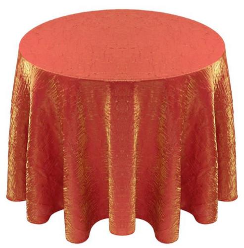 Shimmer Crush Fabric Tablecloth Linen-Orange Gold