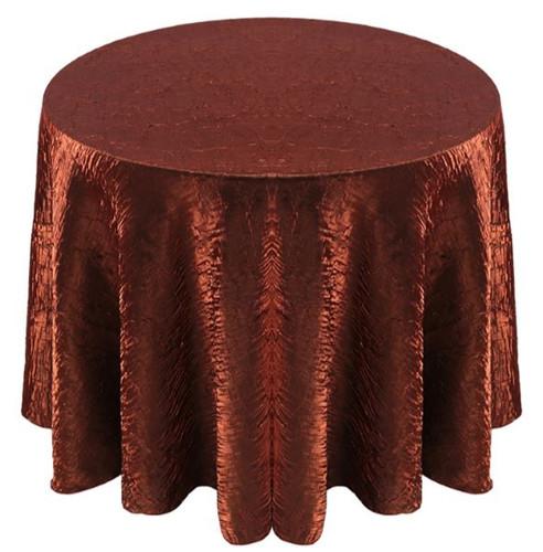 Shimmer Crush Fabric Tablecloth Linen-Copper Black