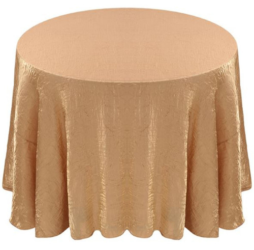 Shimmer Crush Fabric Tablecloth Linen-Champagne Gold