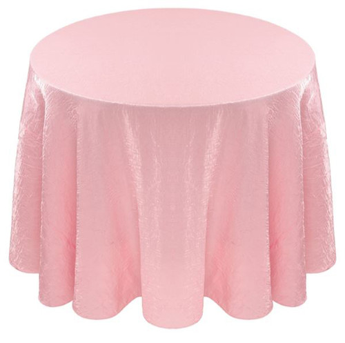 Shimmer Crush Fabric Tablecloth Linen-Blush Pink