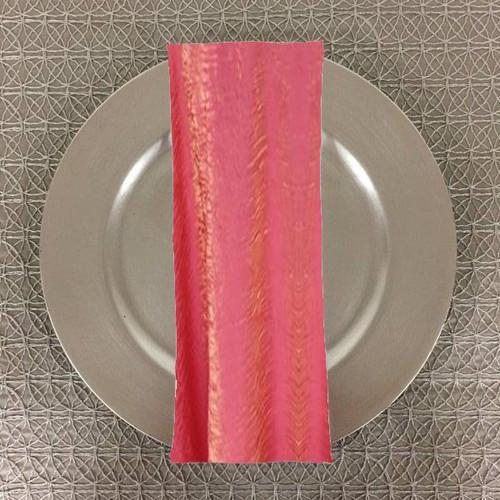 Dozen (12-pack) Shimmer Crush Fabric Table Napkins-Watermelon
