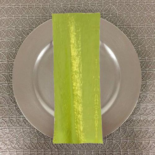 Dozen (12-pack) Shimmer Crush Fabric Table Napkins-Lime