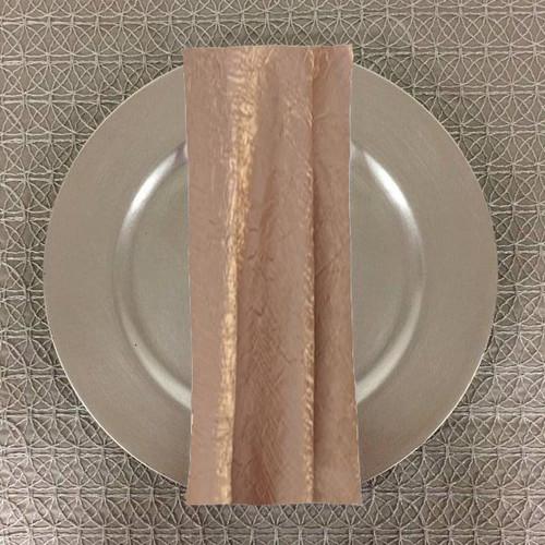 Dozen (12-pack) Shimmer Crush Fabric Table Napkins-Beige