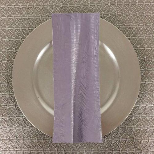 Dozen (12-pack) Shimmer Crush Fabric Table Napkins-Grey