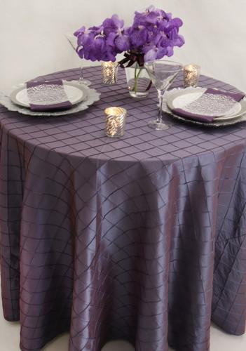 Pintuck Taffeta Tablecloth Linen - 10+Sizes-10+Colors-20+Free Ship