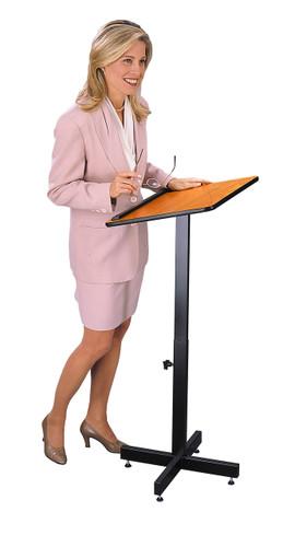 Portable Presentation Lectern with Adjustable Height Pole (OKS-70)