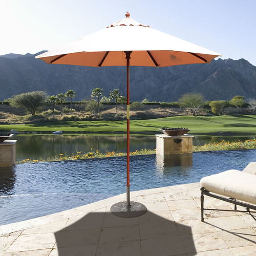 Galtech 7.5-ft. Wood Cafe Style Umbrella With Manual Lift, Model 121-221 - Free Shipping - 10+ Colors
