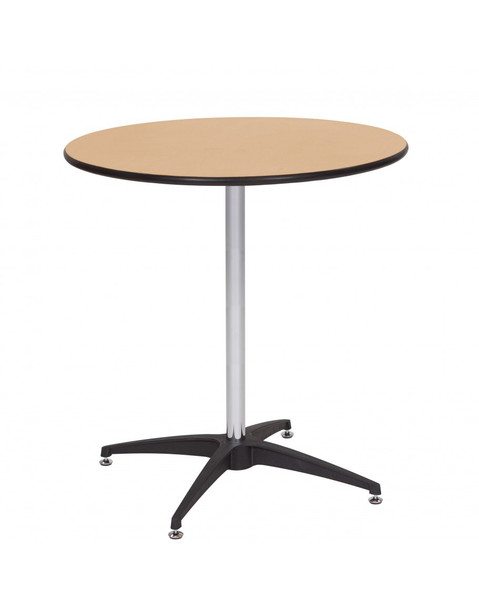"European Birch 30"" Round Wood High Top Cocktail Table with Self-Leveling Glides"