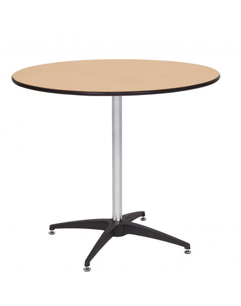 """Premier Series 36"""" Round Wood High Top Cocktail Table with Self-Leveling Glides"""