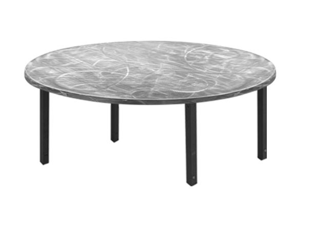 ... Swirl Half Round U0026 Quarter Round Aluminum Folding Table With Individual  Folding Legs  ...