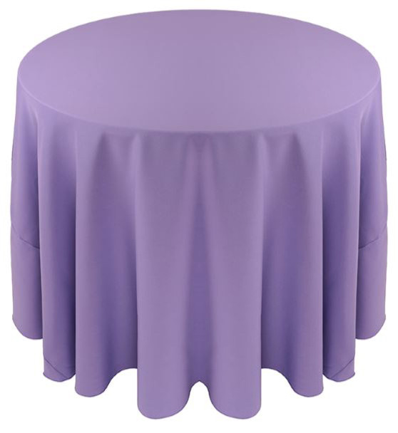 ... Solid Polyester Tablecloth Linen Amethyst ...