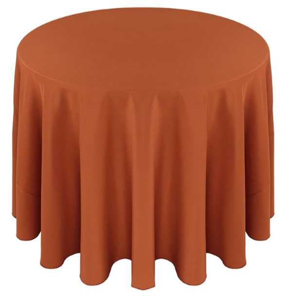 ... Solid Polyester Tablecloth Linen Copper ...