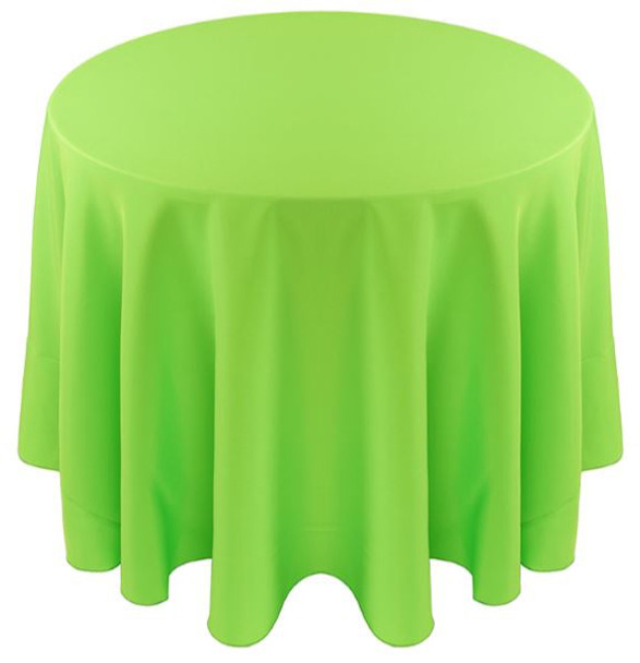 ... Solid Polyester Tablecloth Linen Neon Green ...