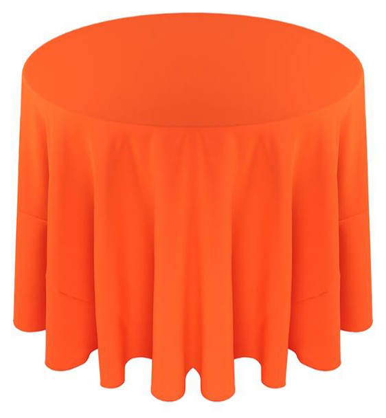 ... Solid Polyester Tablecloth Linen Neon Orange ...