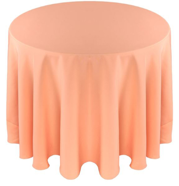 Exceptionnel ... Solid Polyester Tablecloth Linen Peach ...