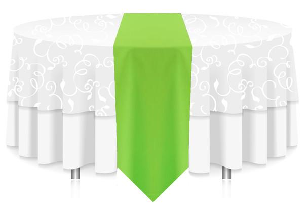 ... Solid Polyester Table Runner Linen Neon Green ...
