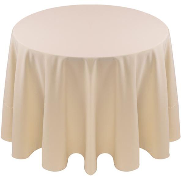 ... Spun Polyester Tablecloth Linen Ivory ...