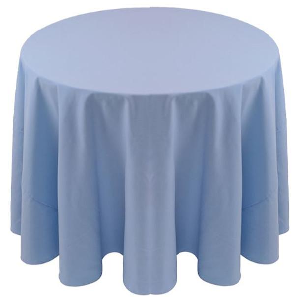 ... Spun Polyester Tablecloth Linen Light Blue ...