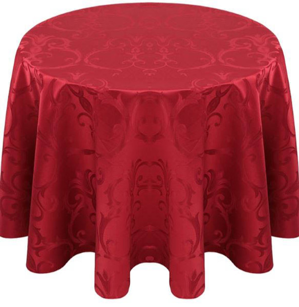 Chopin Damask Tablecloth Linen-Red