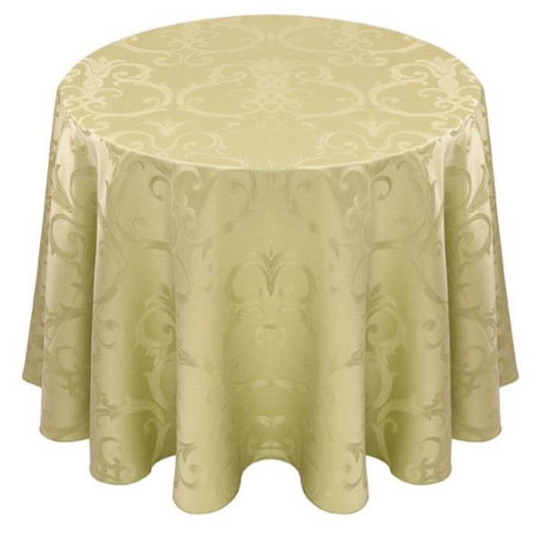 Chopin Damask Tablecloth Linen-Willow
