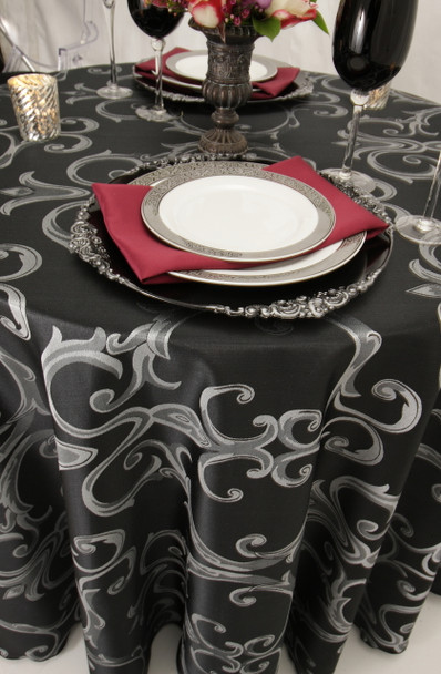 Chopin Damask Tablecloth Linen