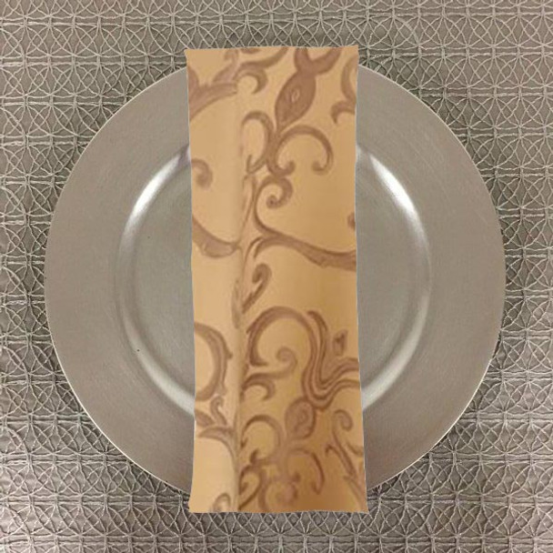 Dozen (12-pack) Chopin Damask Table Napkins-Camel