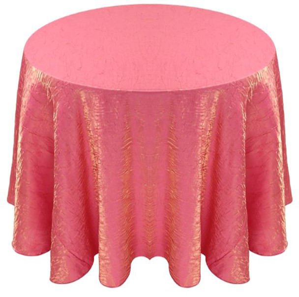 Shimmer Crush Fabric Tablecloth Linen-Watermelon