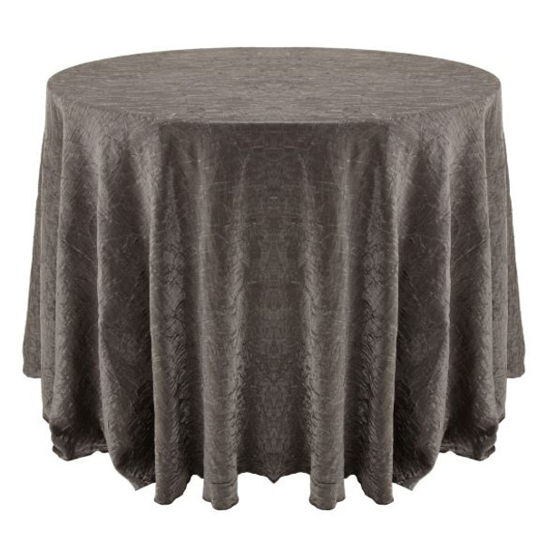 Shimmer Crush Fabric Tablecloth Linen-Silver Black