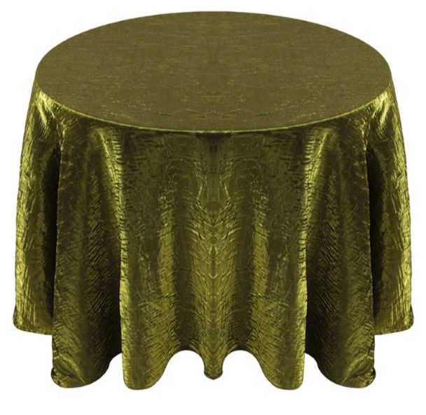 Shimmer Crush Fabric Tablecloth Linen-Moss