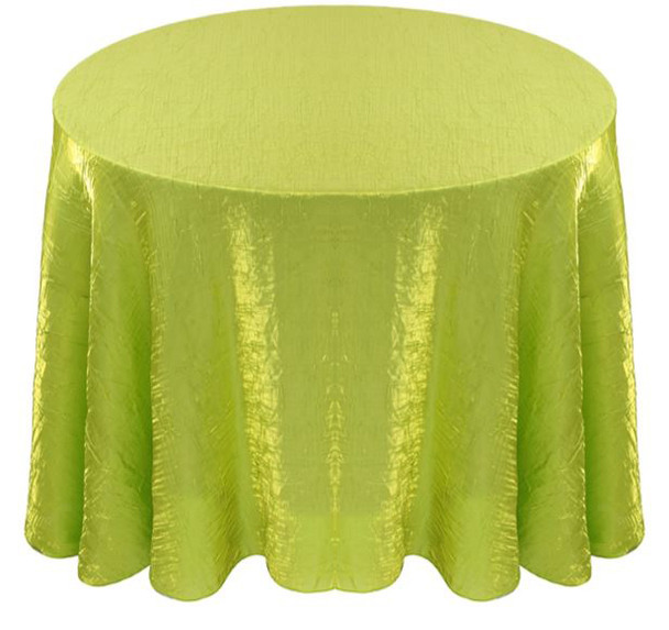 Shimmer Crush Fabric Tablecloth Linen-Lime